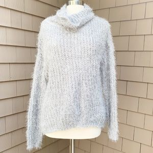 Joseph A Fuzzy Knit Long Sleeve Cowl Sweater Large